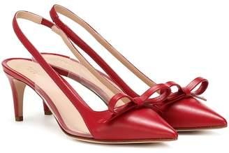 RED (V) slingback leather pumps