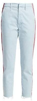 Mother Women's Shaker Prep Fray Hem Racing Stripe Jeans