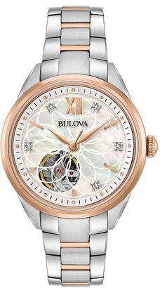 Bulova Womens Two Tone Bracelet Watch-98p170 $495 thestylecure.com
