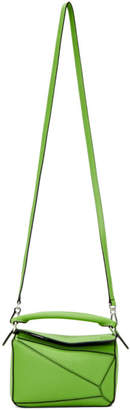 Loewe Green Mini Puzzle Bag