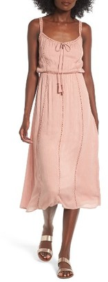 Women's Lush Ladder Trim Midi Dress $55 thestylecure.com