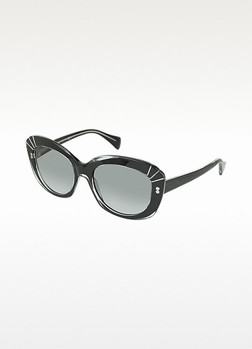 Alexander McQueen AMQ4214/S Black Acetate Cat-Eye Sunglasses