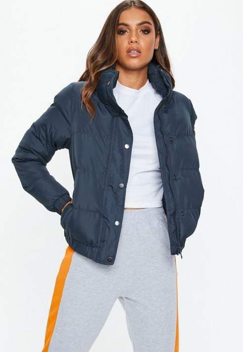 Navy Puffer Jacket, Navy