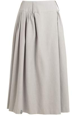 Natasha Zinko Pleat-detail cotton-blend maxi skirt
