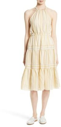 Women's Rebecca Taylor Stripe Halter Dress $395 thestylecure.com