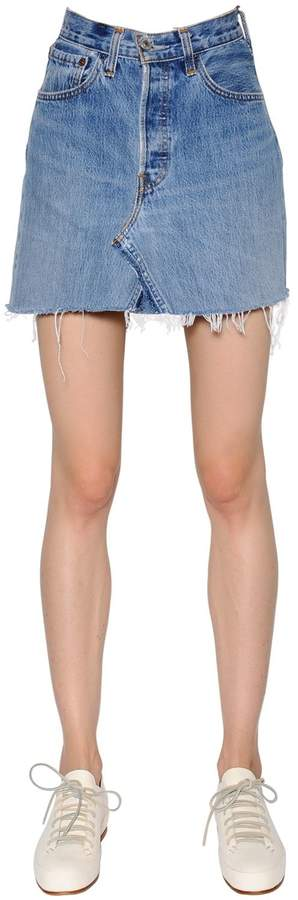 RE/DONE Re Done Vintage Denim Mini Skirt