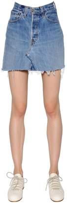 RE/DONE Re Done Vintage Denim Mini Skirt