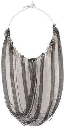 Fabiana Filippi ball chain fringe necklace