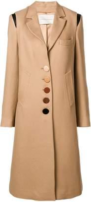 Marco De Vincenzo corduroy buttoned coat