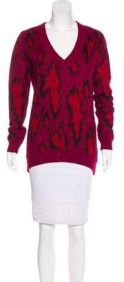 Karl Lagerfeld Intarsia V-Neck Sweater