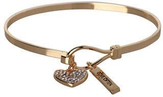 BCBGeneration Heart Charm Goldplated Bracelet
