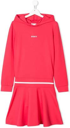 DKNY TEEN small logo print dress