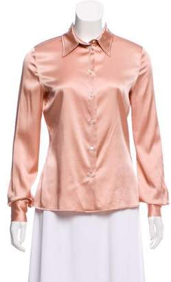 Tom Ford Silk Button-Up Top