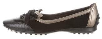 Tod's Leather Rounded-Toe Ballet Flat
