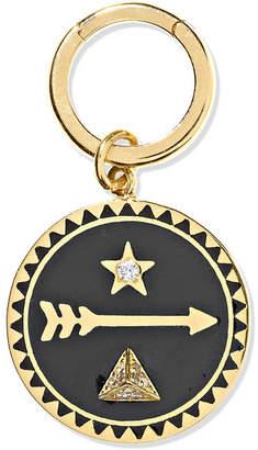 Foundrae - Dream 18-karat Gold, Diamond And Enamel Pendant