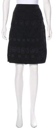 DKNY Embroidered Knee-Length Skirt