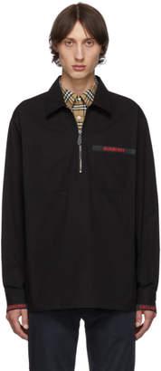 Burberry Black Street Logo Shirt