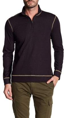 Vintage 1946 French Terry Slub Knit Zip Henley Shirt
