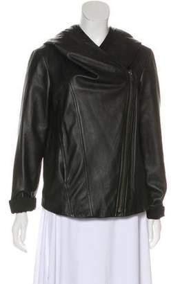 Helmut Lang Hooded Leather Jacket