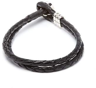 Paul Smith Double Wrap Leather Bracelet - Mens - Black