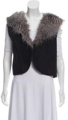 Rachel Zoe Cropped Faux Fur Vest