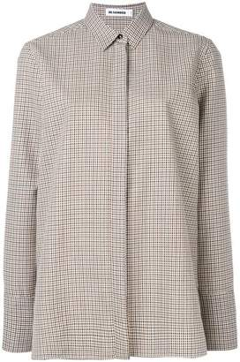 Jil Sander boxy checked shirt