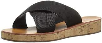 Qupid Women's Flip-15 Wedge Slide Sandal