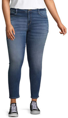 Arizona Skinny Fit Ankle Jeans-Juniors Plus