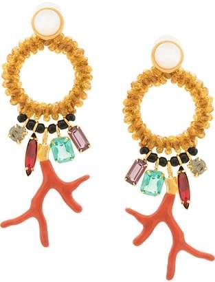 Lizzie Fortunato Ornament pendant earrings
