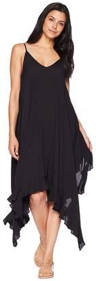 Bleu Rod Beattie Rayon Handkerchief-Hem Dress w/ Ruffle Cover-Up Women's Swimwear