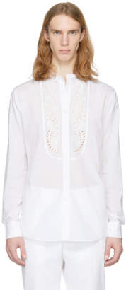 Alexander McQueen White Broderie Anglaise Shirt