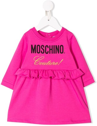 Moschino Kids frilled casual dress