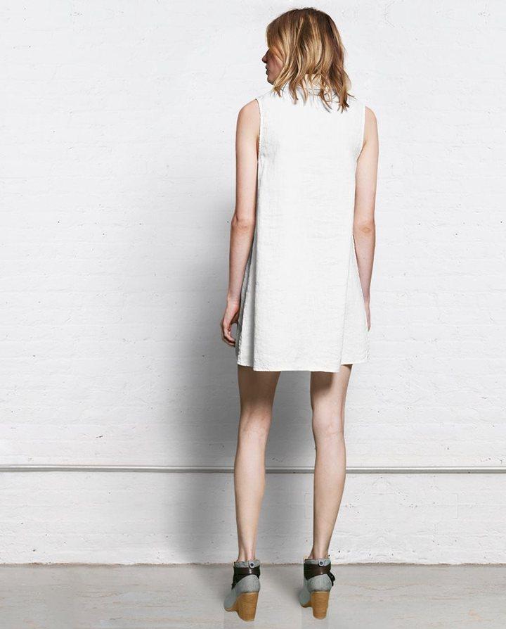 Rag and Bone Tent Dress - White Linen