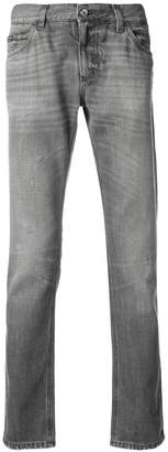 Dolce & Gabbana distressed straight jeans