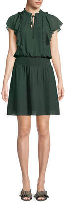 Parker Remington Combo Ruffle Short Dress