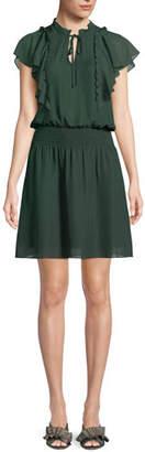 Parker Remington Combo Ruffle Short Dress