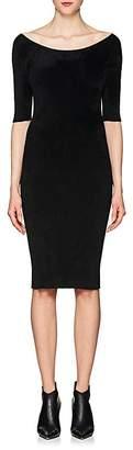 Helmut Lang Women's Rib-Knit Chenille Off-The-Shoulder Dress