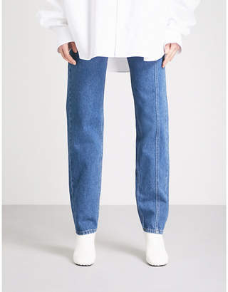 Y/Project Side-panel skinny mid-rise jeans