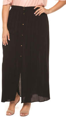 Dex/Black Tape Button Front Skirt