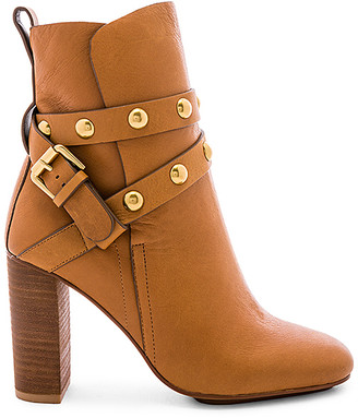 See by Chloe Studded Ankle Strap Heeled Bootie