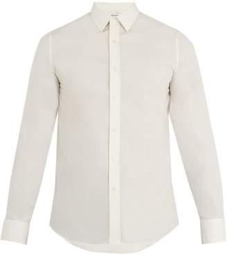 Alexander McQueen Spread-collar single-cuff cotton shirt