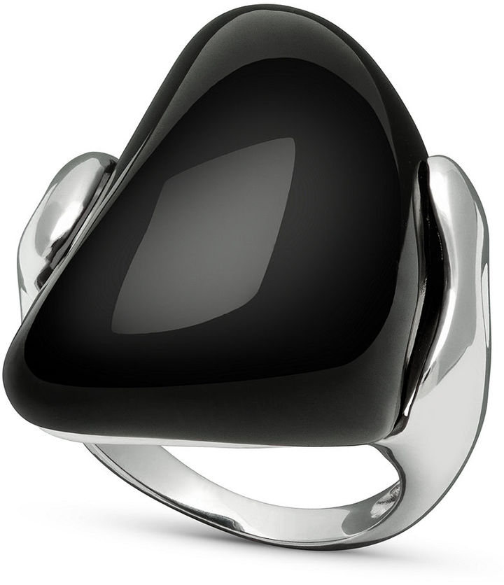Ring Black Sterling Silver Ring, Black Onyx Ring (32-1/2 ct. t.w.)