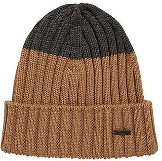 HUGO BOSS Colour-block beanie hat in virgin wool