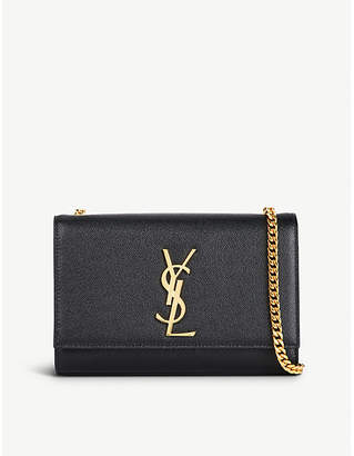 Saint Laurent Black Kate Leather Shoulder Bag