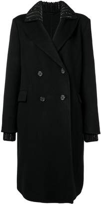 Ermanno Scervino knit collar coat