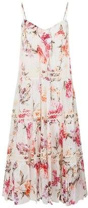 Nicholas Lucile Tiered Floral Midi Dress
