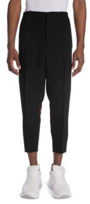 Alexander McQueen Cropped Cotton Trousers