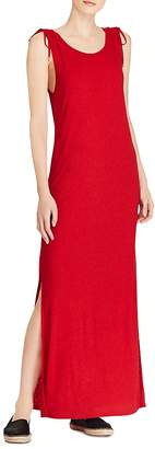 Lauren Ralph Lauren Tie-Shoulder Maxi Dress