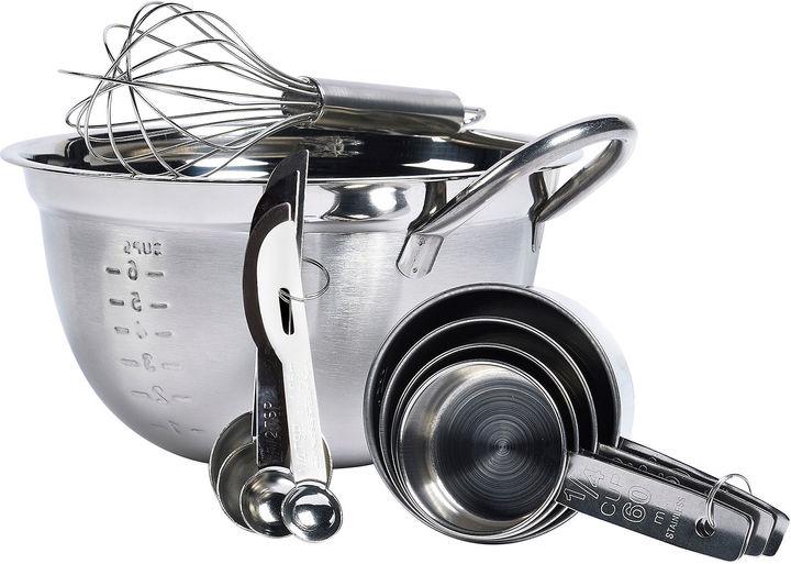 TTU BASIC ESSENTIALS Basic Essentials 10-pc. Stainless Steel Mix and Measure Set