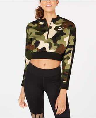 Puma Wild Pack Cropped Half-Zip Top